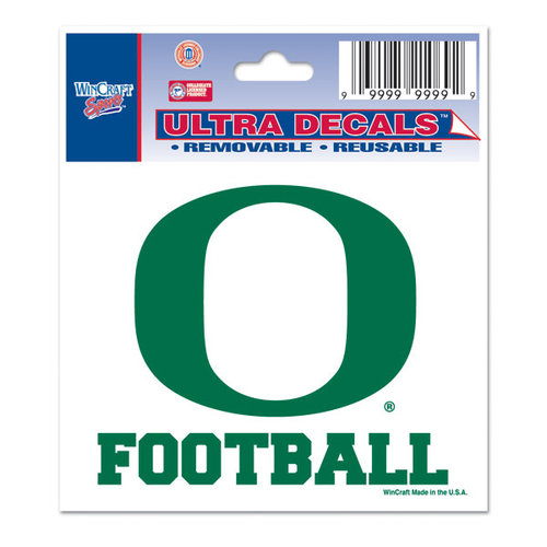 "Oregon Ducks Decal 3"" X 4"" - Football"