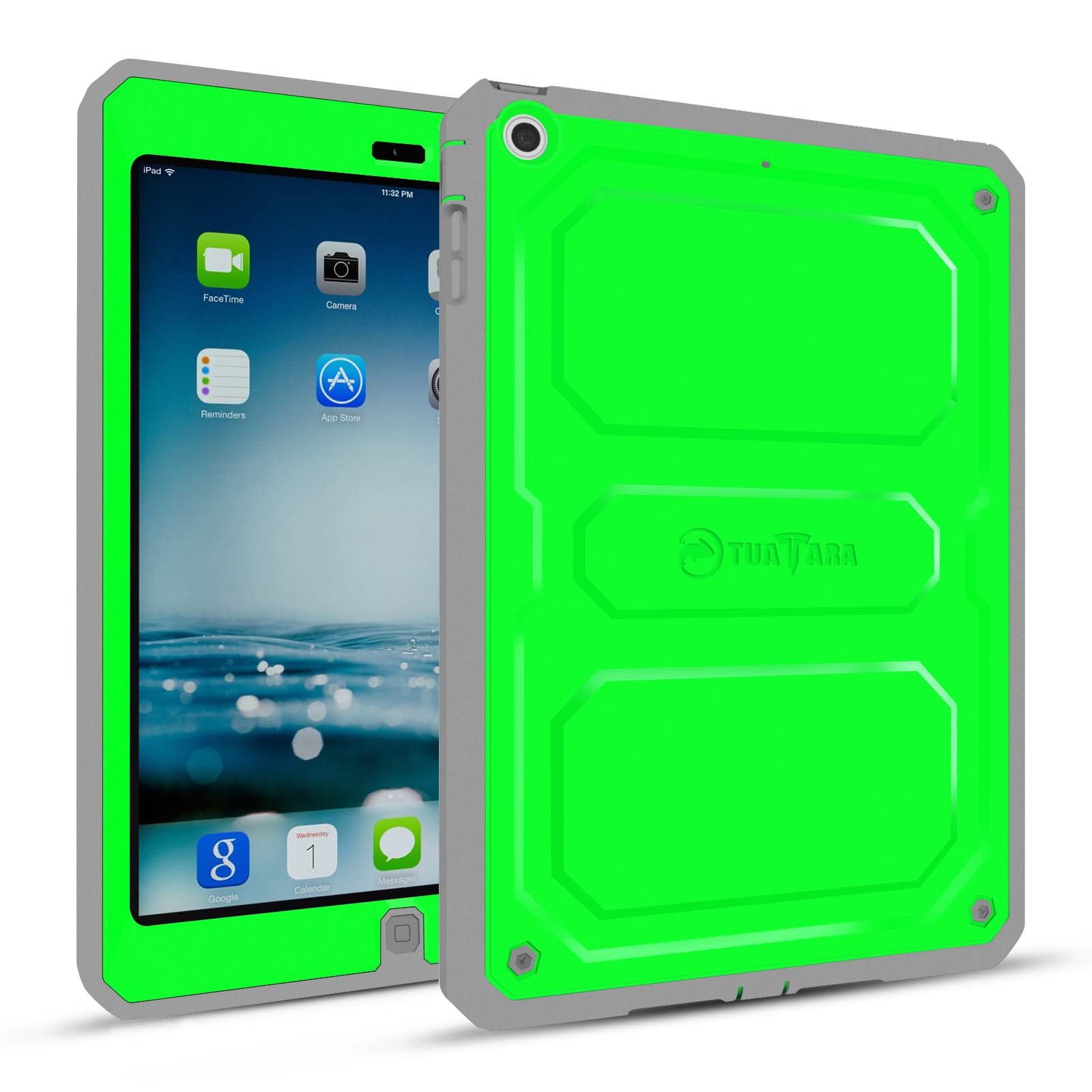 Fintie iPad mini 3/2/1 Dual Layer Full Protective Case Built-in Screen Protector Impact Resistant Cover, Green