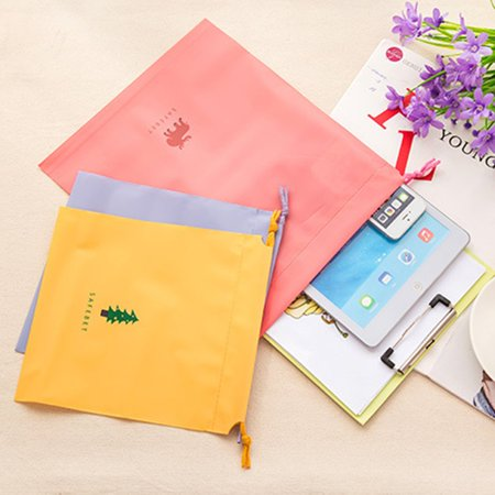 Travel Cartoon Waterproof Drawstring Travel Storage Bag Home Clothing Sorting Bag Bundle Pocket Set Bags - image 2 de 6