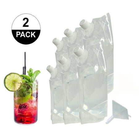 Garter With Flask (Sneak Your Alcohol Cruise Liquor Flask Kit with Funnel (6 FLASK)