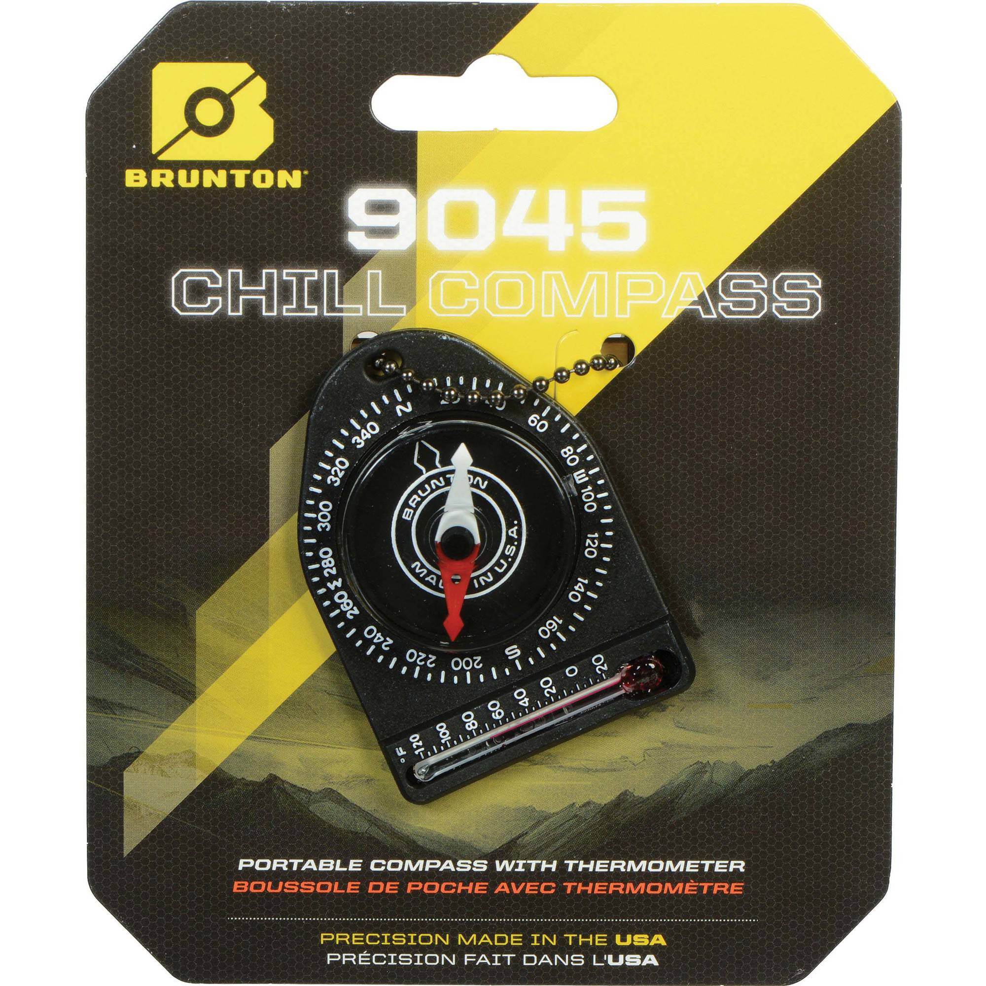 Brunton Keyring Compass with Thermometer