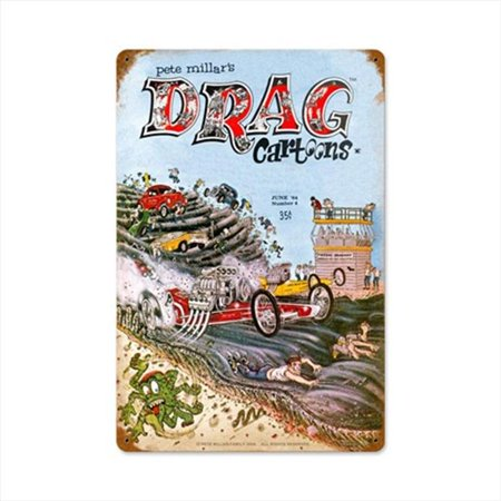 Past Time Signs DRAG007 Cover June1964 Automotive Vintage Metal Sign - image 1 of 1