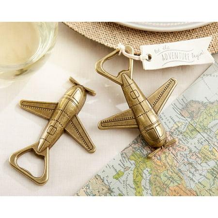 Bottle Openers In Bulk (Le Prise Let the Adventure Begin Airplane Bottle Opener (Set of)