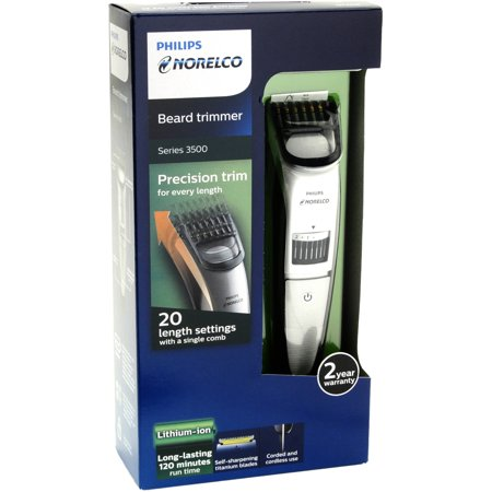 philips norelco beard trimmer series 3500 20 built in length settings qt401. Black Bedroom Furniture Sets. Home Design Ideas