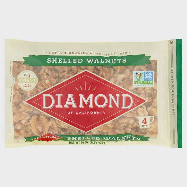 Diamond of California Shelled Walnuts, 16 Oz