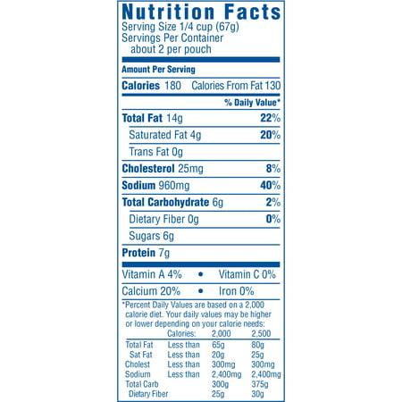recipe: velveeta mac and cheese box nutrition [23]