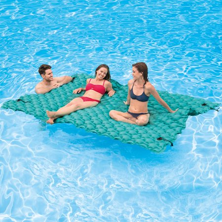 Intex Giant 9.5' Inflatable Floating Water Swimming Pool Lake Mat Platform Pad