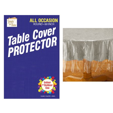 Clear Plastic Tablecloth Protector Table Cloth Vinyl 60