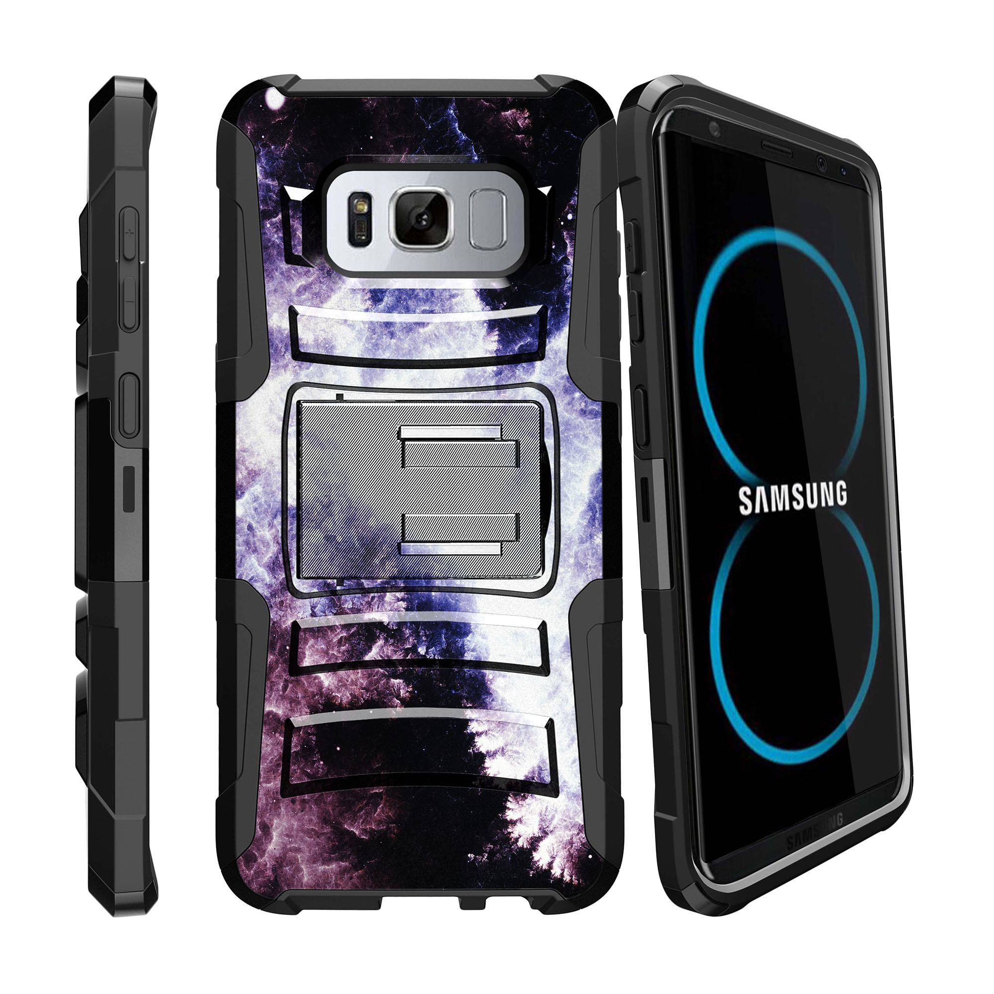 Case for Samsung Galaxy S8 Plus | S8 Plus Case  [ Clip Armor ] Heavy Duty Case with Belt Clip & Kickstand Galaxy Collection