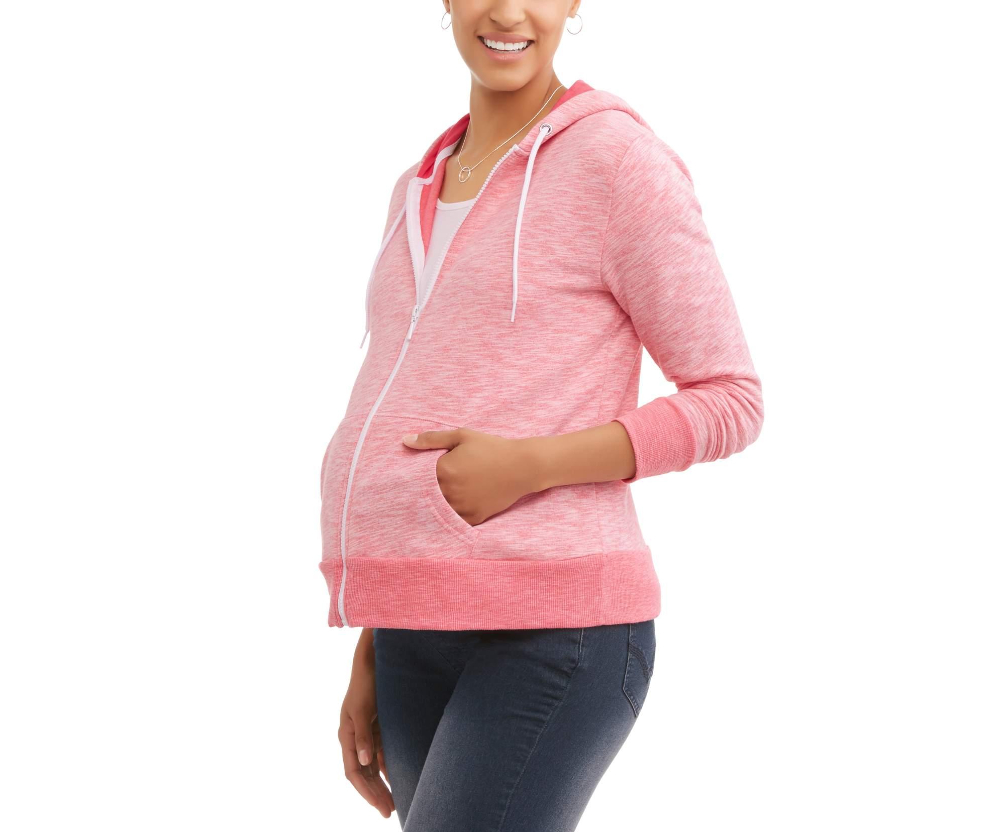 Maternity Zip-Up Hoodie by