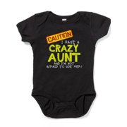 CafePress - I Have A Crazy Aunt Body Suit - Cute Infant Bodysuit Baby Romper