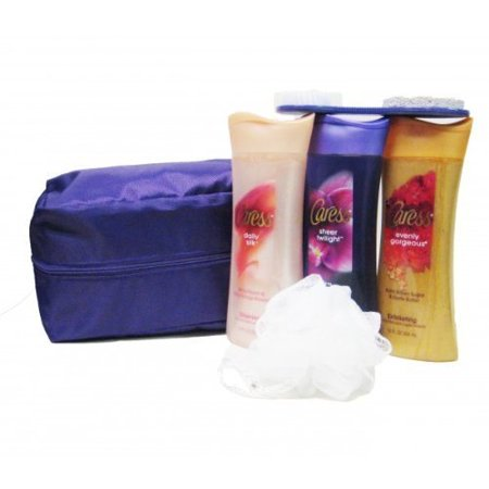Body Wash Gift Set with Travel Bag (6 Piece), Fine Fragrance Set Includes: By Caress Ship from US ()