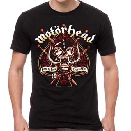 Motorhead Men's Sword Spade Clean T-Shirt Black Sword S/s Tee