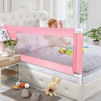 Mesh Safety Baby Bed Rails, 59 Inches, Pink
