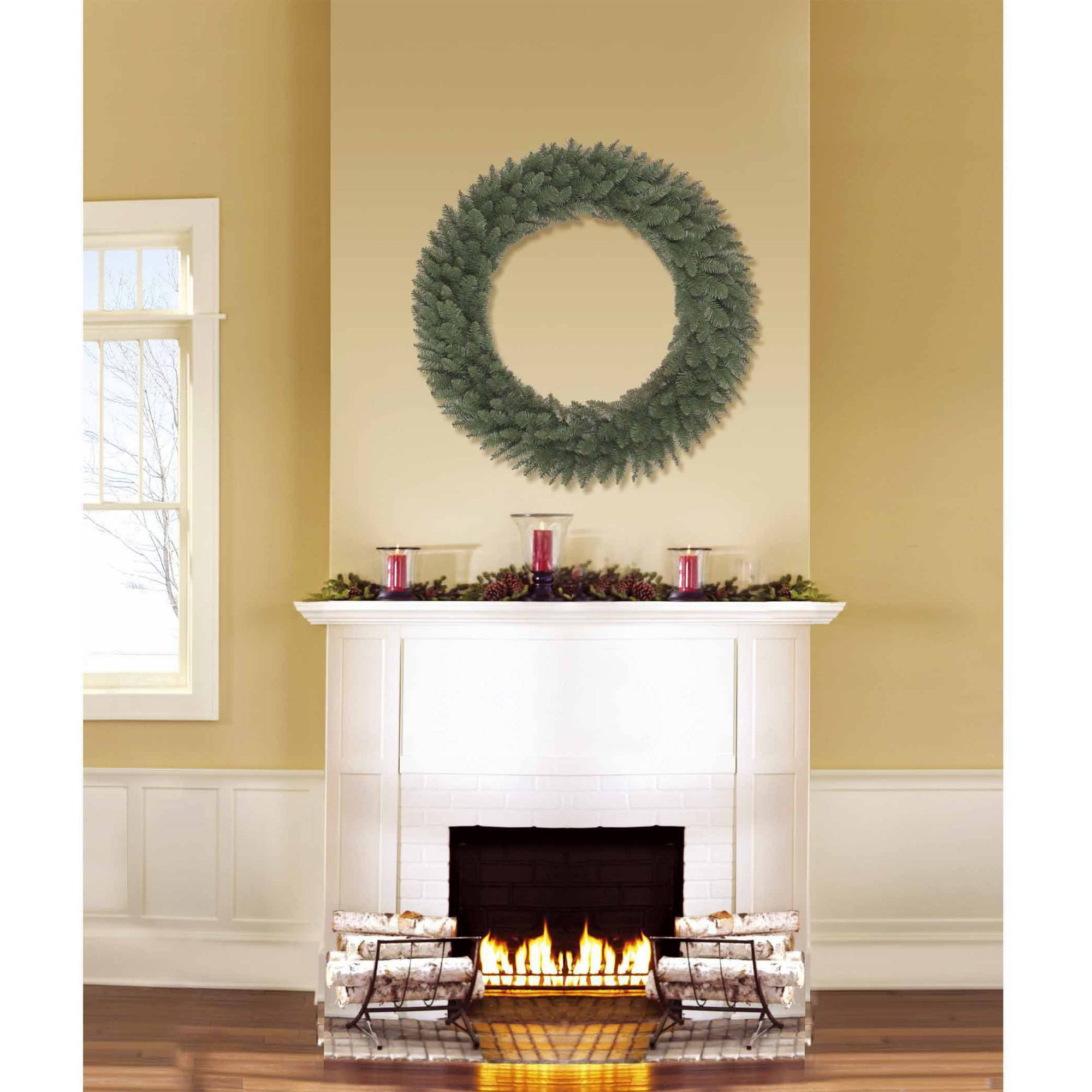 """Holiday Time Unlit 36"""" Basic Artificial Christmas Wreath"""