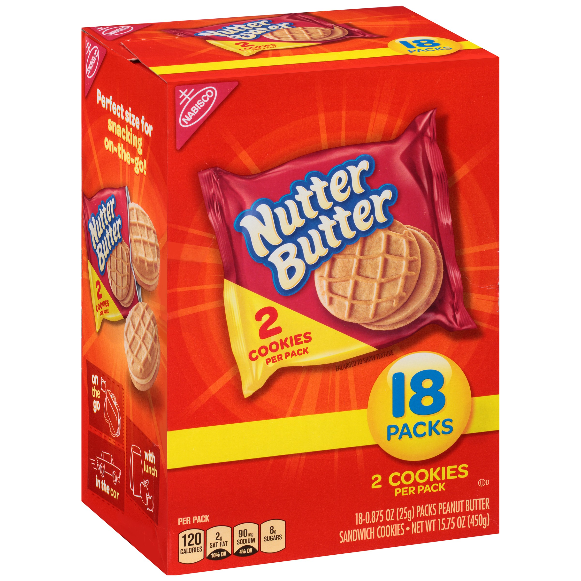Nabisco Nutter Butter Cookies - 18 PK, 0.875 OZ