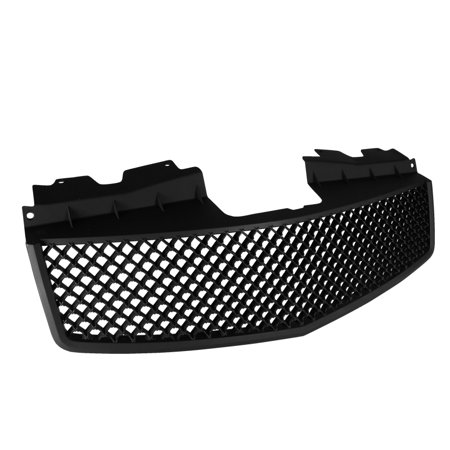 Spec-D Tuning 2003-2007 Cadillac Cts V Front Hood Grill Grille Matte Black 2003 2004 2005 2006 2007 ()