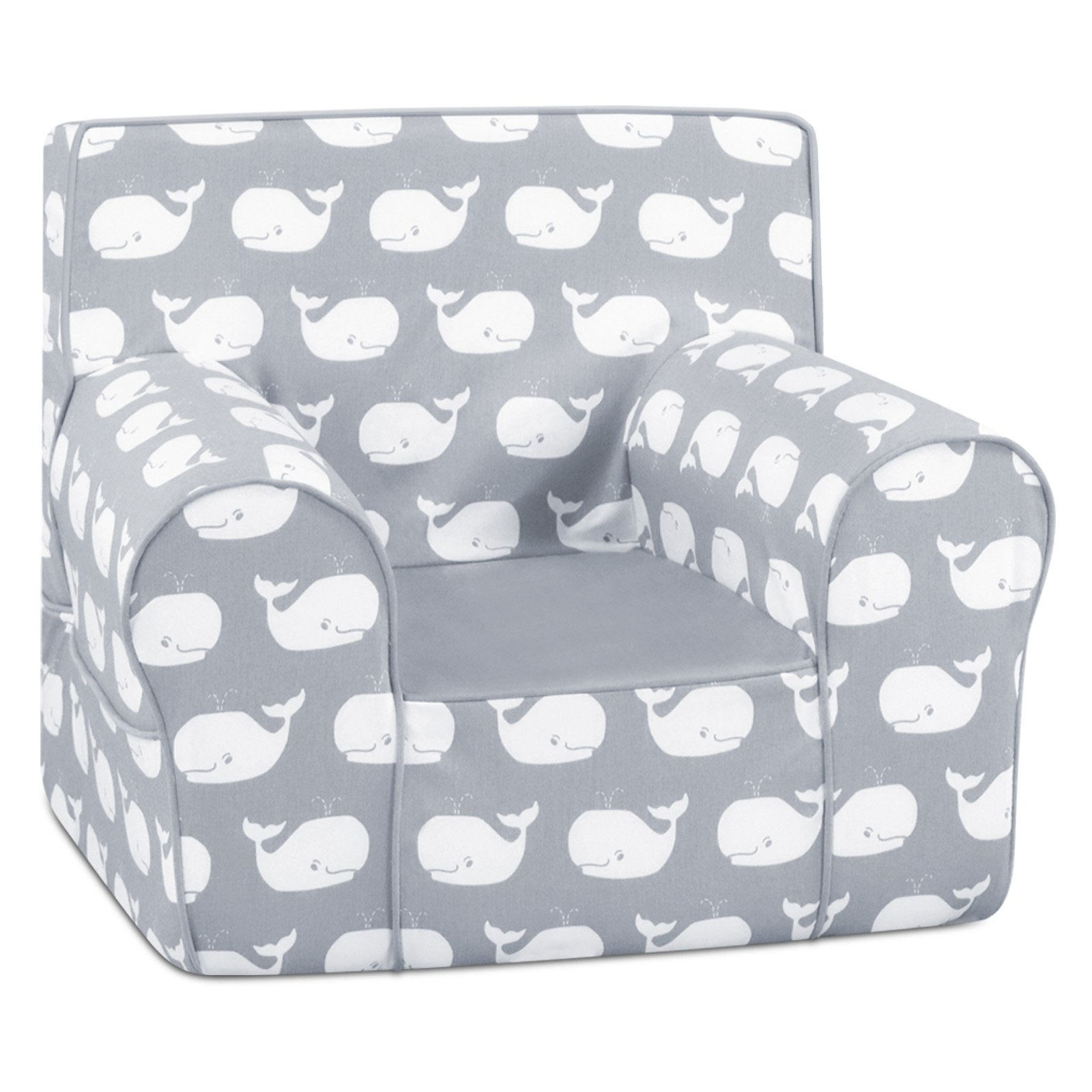 Superieur Grab N Go Kidu0027s Foam Chair With Handle   Whale Tales Storm White Twill With  Pebbles   Walmart.com