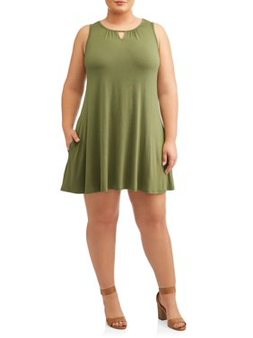 7fade54499fcb6 Product Image Women's Plus Size Sleeveless Knit Dress