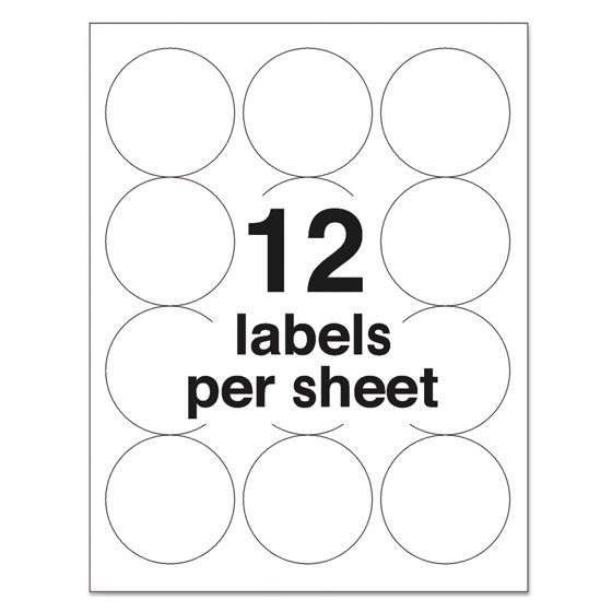 Averyr White High Visibility Labels For Laser Printers 5294 2 12