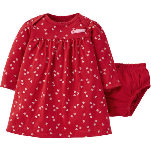Child of Mine by Carter's Newborn Baby Girl Valentines Dress and Panty Set 2 Pieces