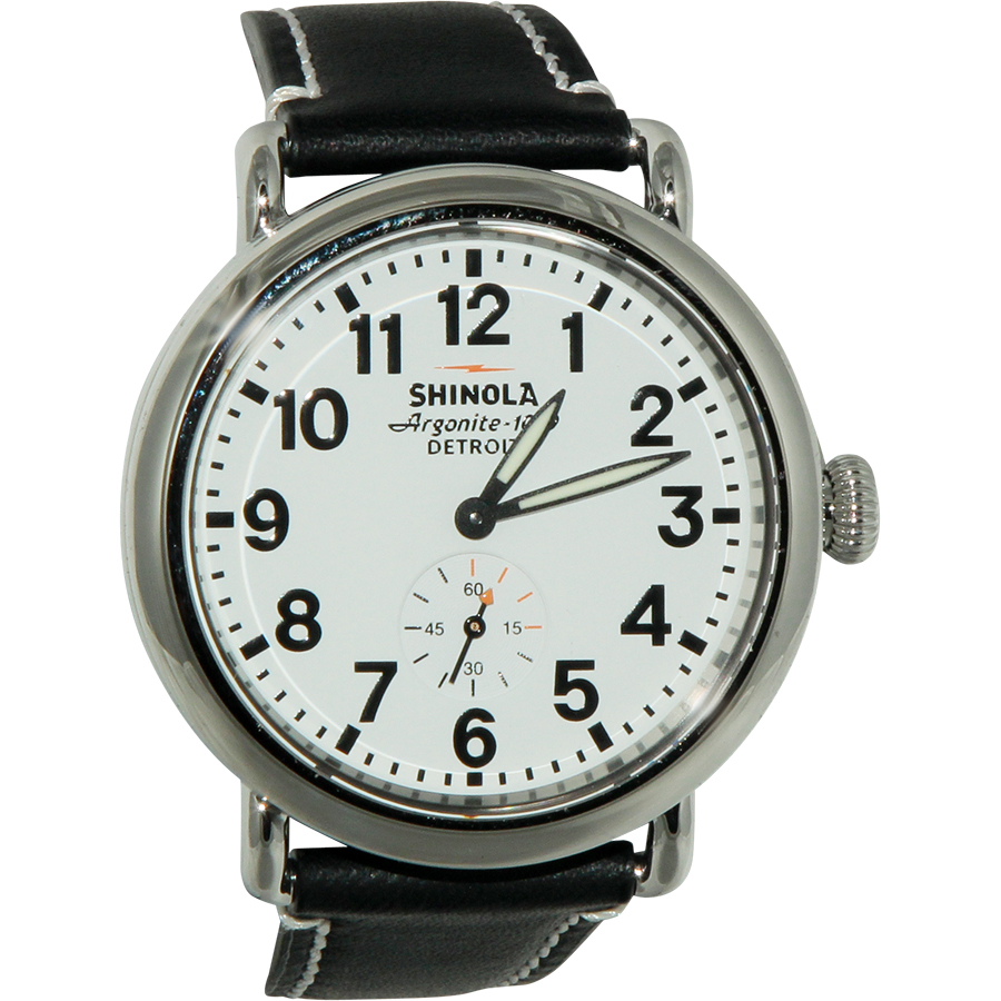 SHINOLA The Runwell White Dial Black Leather Unisex WatchItem No. S0100019
