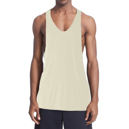 96a5ab3d9ef20 BODYSMART - A Men s Tank Top NET OFF WHITE 46  X-Large - Walmart.com