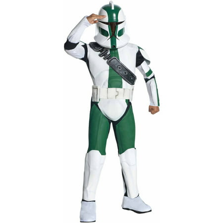 Star Wars The Clone Wars Clone Trooper Commander Gree Child Halloween Costume](Diy Clone Trooper Costume)