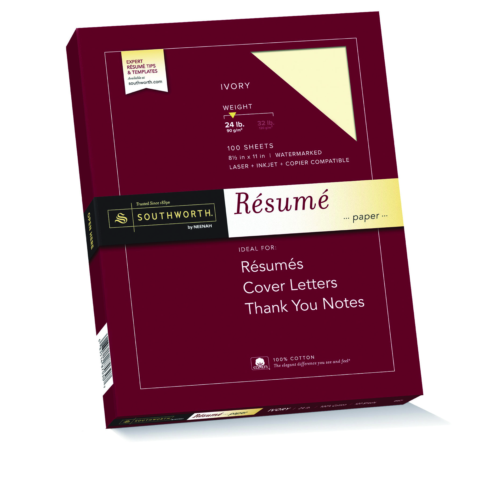 southworth 100  cotton resume paper  8 5 x 11 u0026quot   24 lb