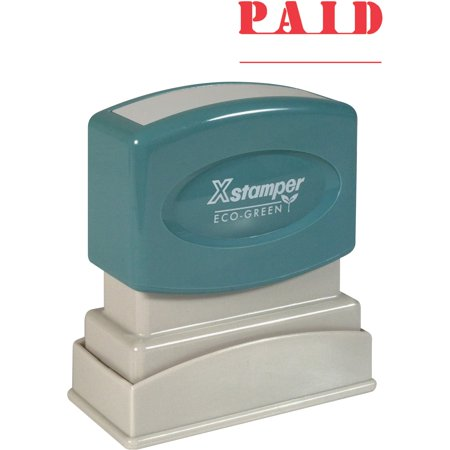 - Xstamper, XST1221, PAID Title Stamp, 1 Each