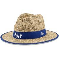 Los Angeles Dodgers New Era Shaded Straw Hat - Natural - OSFA