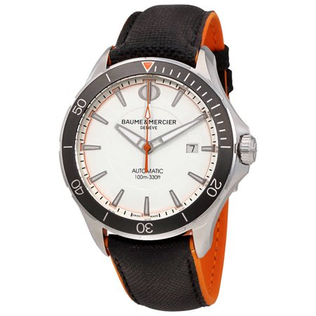 Automatic Movement White Dial (Baume et Mercier Clifton Automatic White Dial Men's Watch MOA10337 )