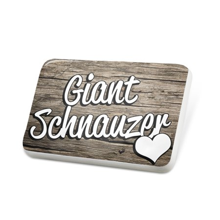 Giant Lapel Pin - Porcelein Pin Giant Schnauzer, Dog Breed Germany Lapel Badge – NEONBLOND