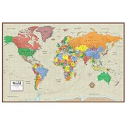 24x36 world contemporary elite 3d push pin travel wall map foam board mounted laminated