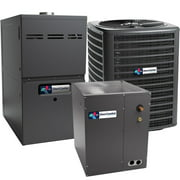 Direct Comfort 14.5 SEER 2.0 TON complete split air conditioning system with furnace (DC-GSX140241 DC-CAPF3636B6 DC-GMES800803BN TX2N4A)