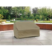 Modern Leisure Basics Outdoor Patio Loveseat Cover - Water Resistant (55 L X 33 D X 38 H Inches) Beige, Model 5523A