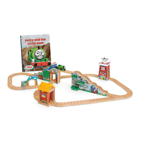 Fisher-Price Thomas & Friends Wooden Railway Percy And The Little Goat - Percy The Train