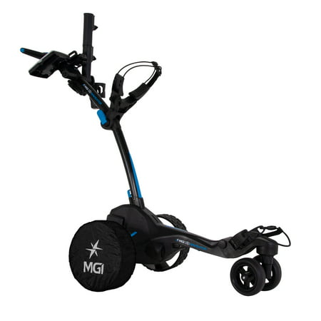 MGI Zip Navigator Electric Golf Push Cart Swivel Caddie with Accessories,