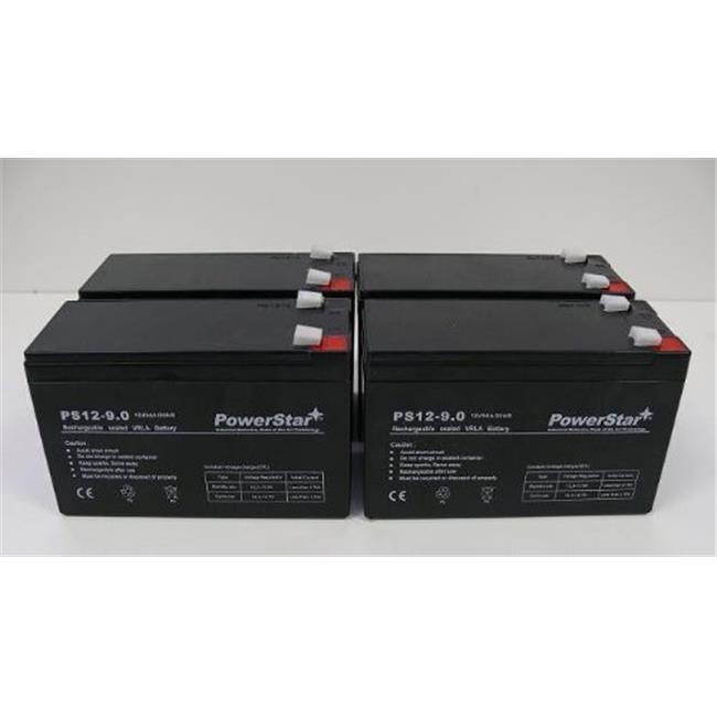 PowerStar PS12-9-4Pack8 9Ah Batteries 4 APC Smart UPS RBC8 RBC23 RBC24 RBC25 RBC31 SU1400R