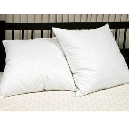 Feather Filled Euro Square Pillow White 2pk - Blue Ridge Home Fashions