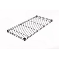 "HSS Wire Shelving Extra Wire Shelf 16"" X 36"", Fits on 7/8"" Pole Diameter, Black, 1-PACK, Shelf Capacity 350 lbs"