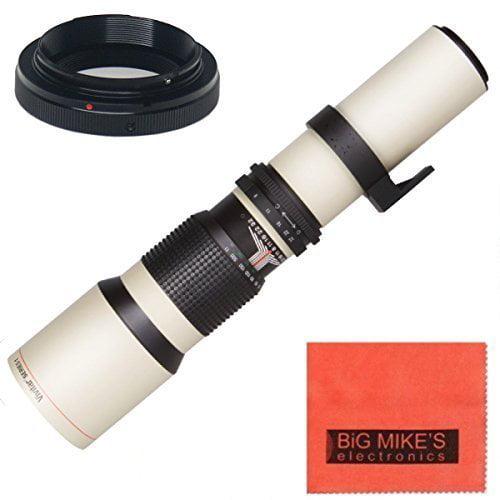 High-Power 500mm f/8 Manual Telephoto Lens for Nikon D90,...