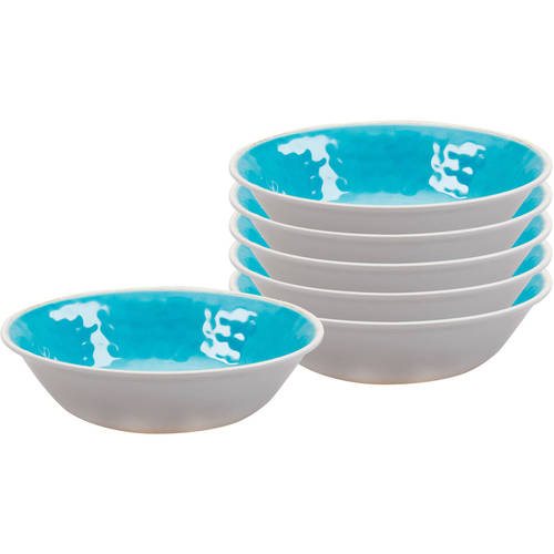 Better Homes and Gardens Textured Small Bowl, Set of 6, Melamine