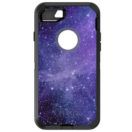 Distinctink  Custom Black Otterbox Defender Series Case For Apple Iphone 7   Iphone 8  4 7   Screen    Purple Black White Stars Nebula