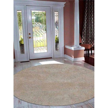 2 ft. 6 in. x 6 ft. Solid Hand Tufted Polyester Area Rug, (2 White Milk Glass)