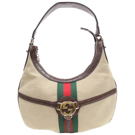 Gucci Sherry GG Web Interlocking Reins Hobo 868044