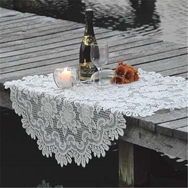 Heritage Lace 56664E 30 in. Rose Round Table Topper