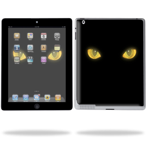 Mightyskins Protective Vinyl Skin Decal Cover for Apple iPad 2 2nd Gen or iPad 3 3rd Gen Tablet E-Reader wrap sticker skins - Cat Eyes