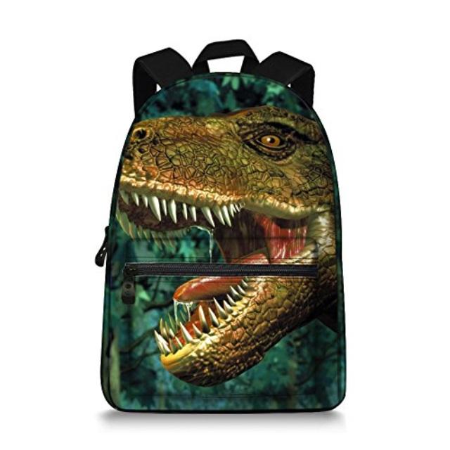 Childrens Personalised Dinosaur School Book Bag Boys Girls Animal Gift