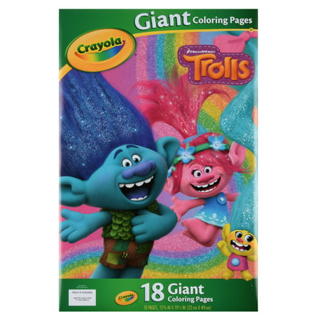 Coloring Sheets Halloween (Crayola Trolls Giant Coloring Pages, 18 Sheets For Ages)